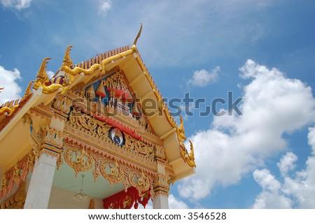 Buddhist temple, Koh Samui, Thailand - stock photo