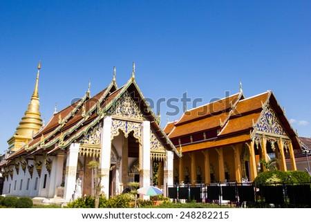 Buddhist temple of Chang Kum, Nan province, Thailand - stock photo