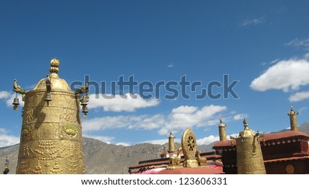 Buddhist tibetan monastery in the city of Lhasa,Tibet