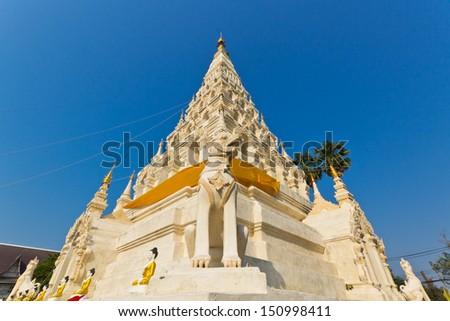 "Buddhist Triangle Pagoda in Wat (Temple) Chedi Liam at ""Wiang Kum Kam"" Chiangmai, Thailand. - stock photo"