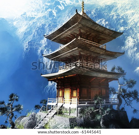 Buddhist Zen Temple - stock photo