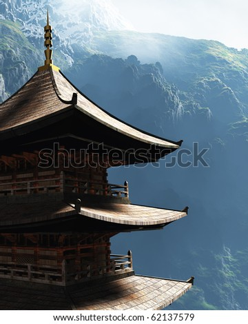 Buddhist Zen Temple - stock photo