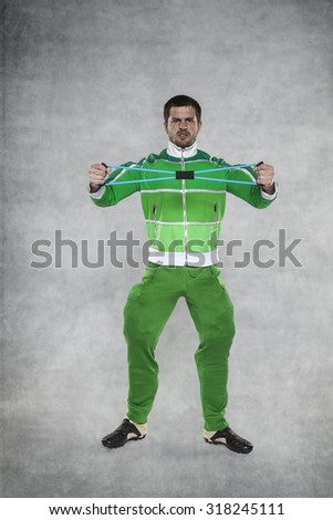 budding athlete - stock photo