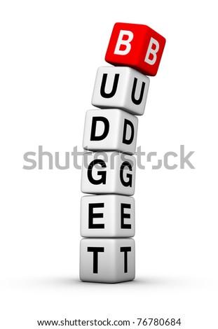 budget breakdown - stock photo