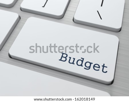 Budget - Business Concept. Button on Modern Computer Keyboard. - stock photo