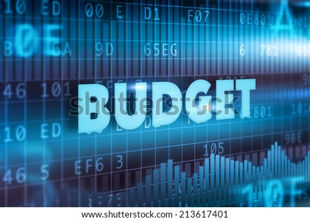 Budget concept blue background blue text - stock photo