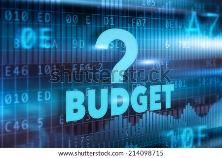 Budget concept blue background with blue text - stock photo