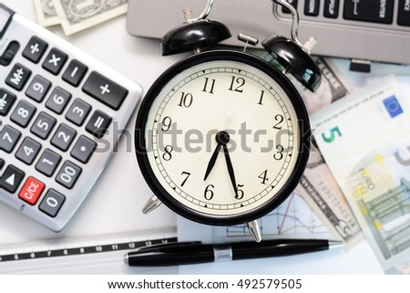 Budget exercise or forecast with old clock concept