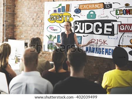 Budget Finance Business Cash Flow Concept - stock photo