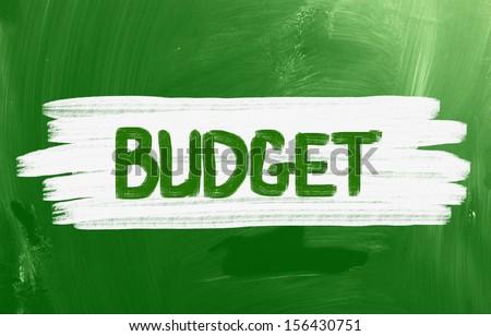 Budget Handwritten With Chalk On A Blackboard - stock photo