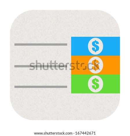 Budget icon - stock photo