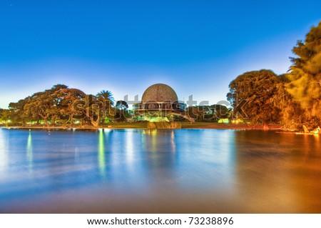 Buenos Aires Galileo Galilei planetarium building. - stock photo