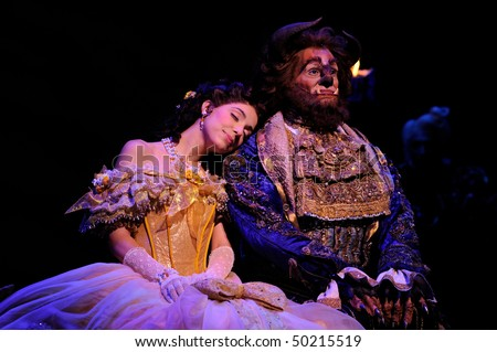 BUENOS AIRES - MARCH 26: Opening of Disney Musical The Beauty and the Beast in Opera Theater March 26, 2010 in Buenos Aires, Argentina - stock photo