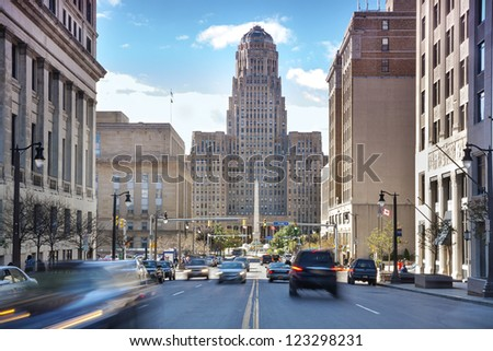 Buffalo is the second most populous city in the state of New York, behind New York City. - stock photo