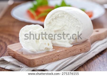 Buffalo mozzarella - stock photo