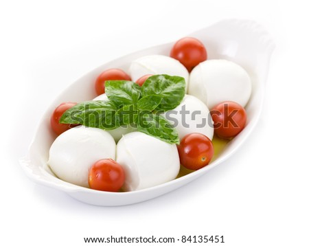 buffalo mozzarella with basil and tomatoes