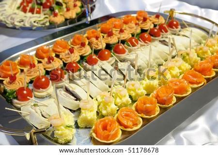 Buffet. - stock photo