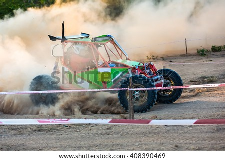 Buggy car in off-road competition