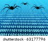 Bugs from Internet - stock photo