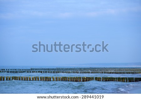 Buhnen in the Baltic Sea - stock photo