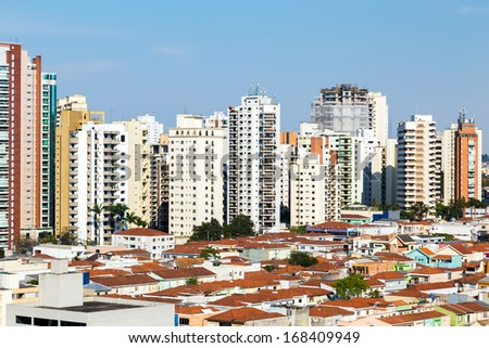 Buidings in Sao Paulo, Brazil - stock photo