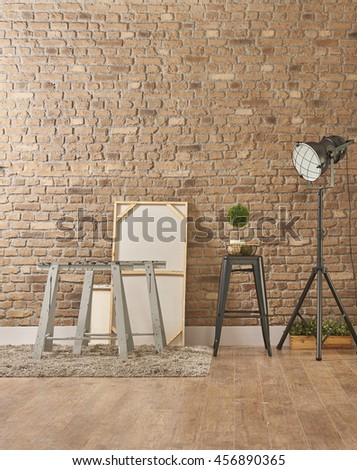 Build Organize A Corner Shelving System book corner brick walls against bright white shelves and furniture. beautiful clutter living with books by the style files art studio Libraries and Reading Room - stock photo