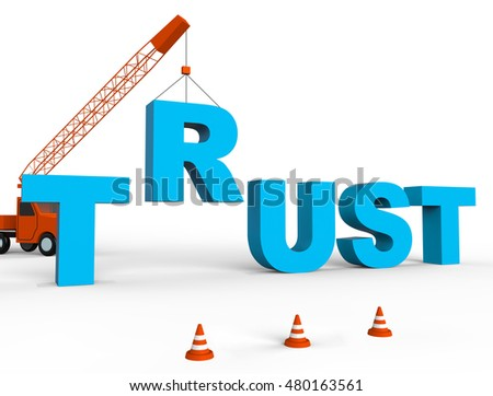 Build Trust Indicating Believe In People 3d Rendering