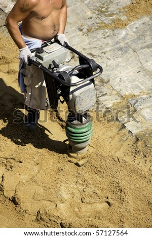 Builder at work - stock photo