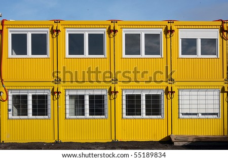 Builder barracks - stock photo