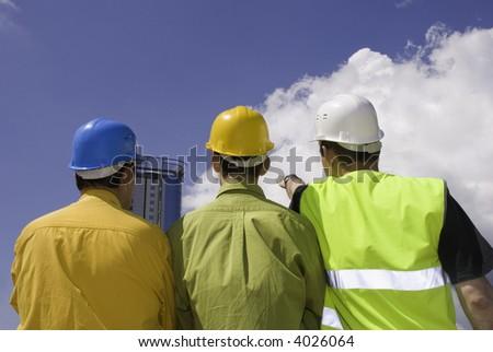 builders - stock photo