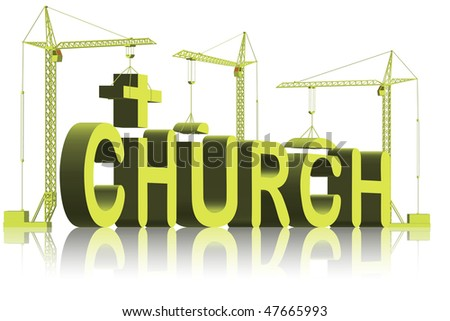 building a church house of god and jesus a place to pray and belief in the holy bible under the cross catholic or christian