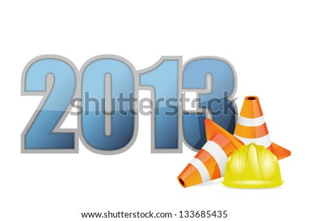 building a great year illustration design over a white background - stock photo