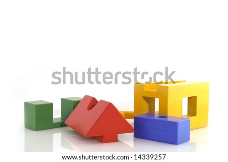 building a house from construction blocks