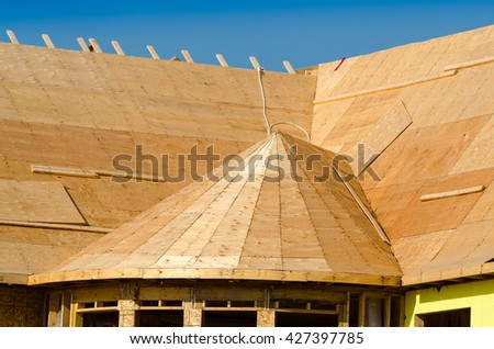 Building a roof - stock photo