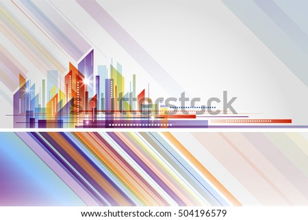 Building and City abstract Illustration