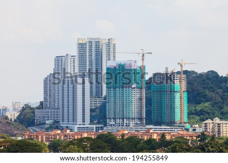 Building and Construction Building in Malaysia - stock photo