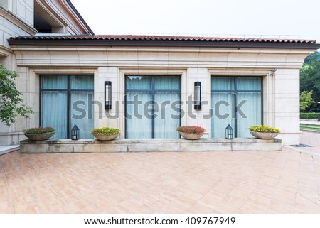 building and floor in modern holiday hotel in hangzhou - stock photo
