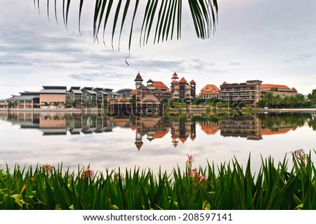 Building and it's reflection - stock photo