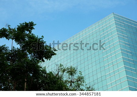 Building and three - stock photo