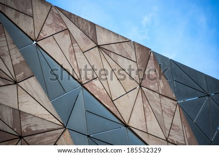 Building architecture pattern in Melbourne - stock photo