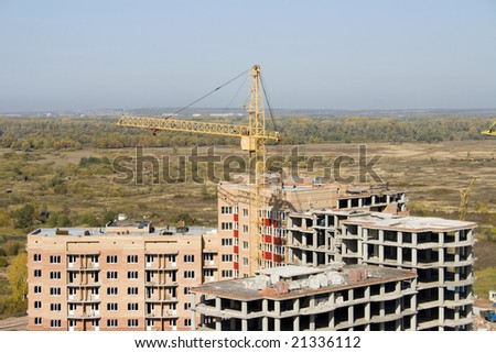 Building area . Business in industry - stock photo