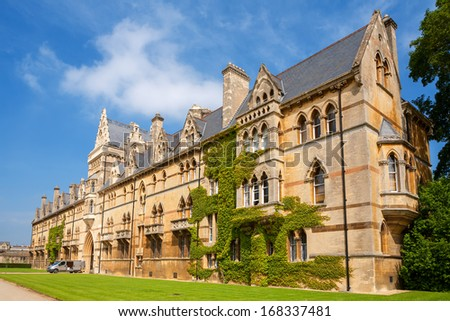 Building at Christ Church College. Oxford University, Oxford, England - stock photo