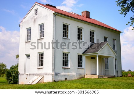 Building at Monocacy National Battlefield - stock photo
