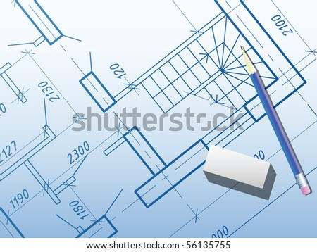 Building background. Plan of the house