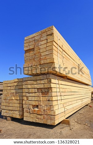 Building bar from a tree - stock photo