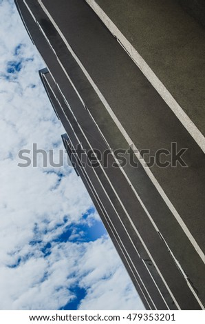 building. beautiful architecture , building, high and straight line geometry . building closeup