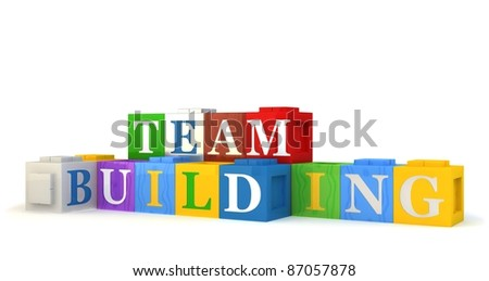 Building blocks spelling out TEAM BUILDING