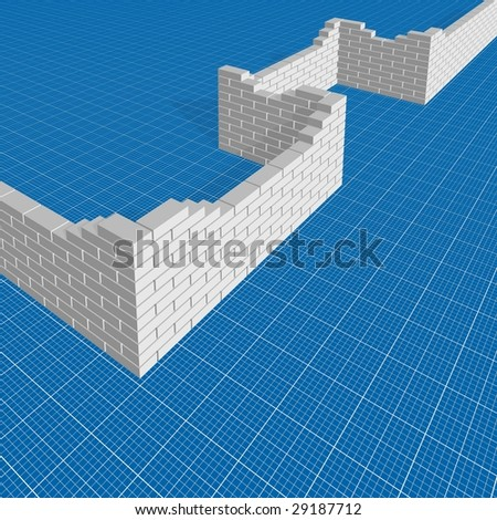 Building blueprint background stock illustration 29187712 shutterstock building blueprint background malvernweather Gallery