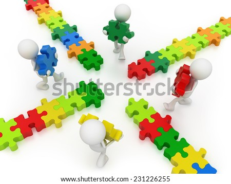 building bridge - stock photo