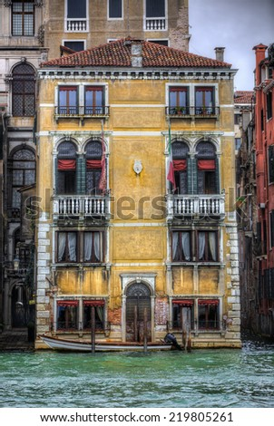 Building by the Grand Canal, Venice - stock photo